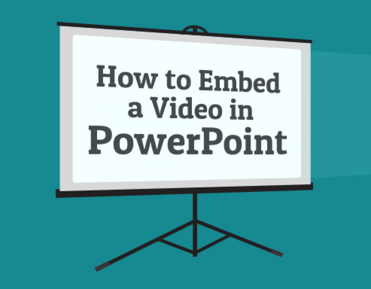 How To Embed A Video In PowerPoint | Biteable