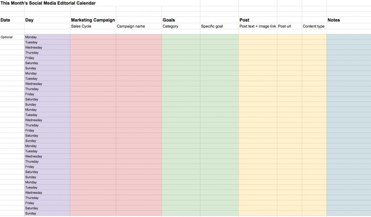 Making A Content Calendar For Social Media Biteable