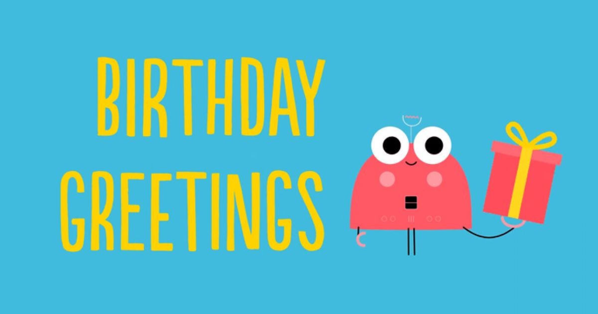 Animated Birthday Greetings Video Template