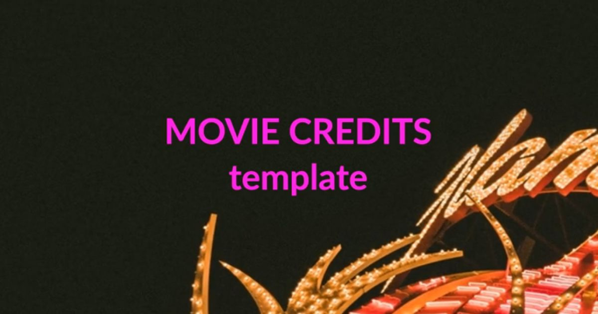 movie credits video template