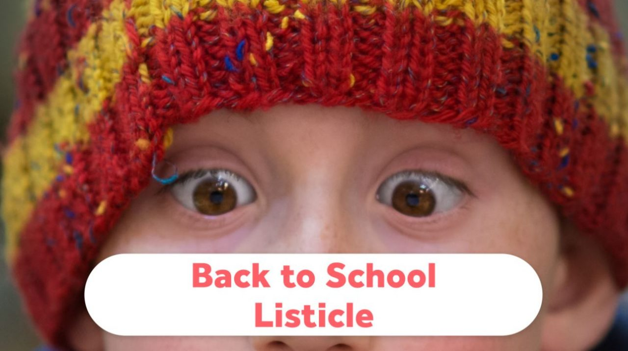 Back to School Listicle